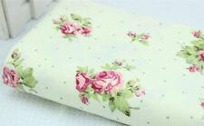 Rosa Confección Textil Verde Tela De Algodón 157cm Ancho Tapicería