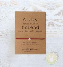 **Friend Wish Bracelet** Friendship Birthday Card best BFF Thank You Gift Heart