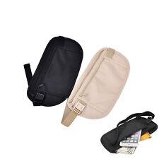 1pc travel storage bag money security purse cards waist belt tickets bag pouch E