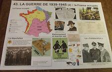 Objet de Métier Carte Scolaire ROSSIGNOL,la France occupée;le marché