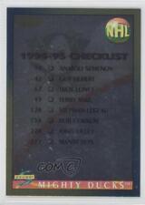 1994 Score Gold Line 263 Checklist Anaheim Ducks (Mighty of Anaheim) Hockey Card