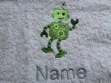 DISEGNO robot ricamato ONTO asciugamani, bagno tuniche, con cappuccio con