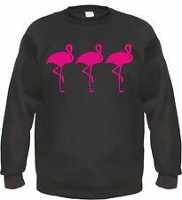 3 Flamants Roses Sweatshirt 80er Rockabilly