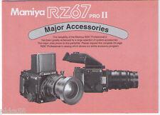 MAMIYA RZ 67 PRO II ACCESSORIES CHART (ORIGINAL PRINT JAPAN/not copies)