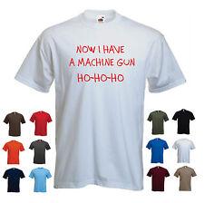 'Now I have a machine gun' Men's funny Die Hard Movie Bruce Willis T-shirt Tee