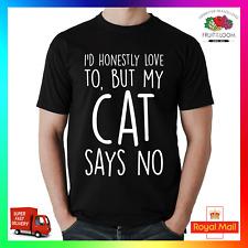 ID onestamente piace, ma il mio gatto dice no T-shirt T-shirt Tee GATTINO Felino Natale