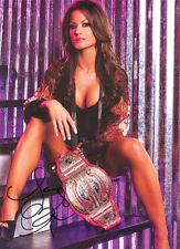 Autographed Photo Miss Tessmacher Brooke Adams TNA Hawaiian Tropic WWE ECW