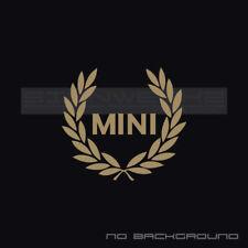Mini Racing Wreath Decal Sticker logo MNI GB cooper S JCW Racing turbo all4 Pair