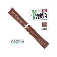 Cinturino Marrone vera Pelle stampa cocco semi imbottito Leather gold Brown