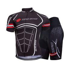 ZEROBIKE Spider Herren Atmungsaktiv Fahrradtrikot & Radlerhose Kurzarm Shorts