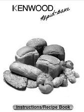 Kenwood Bread Machine Manual Bm150 Bm200 Bm210 Bm250 Bm256 Bm258 Bm260 Bm300