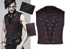 Gilet veste jacquard gothique dandy baroque laçage broderie rouge PunkRave Homme