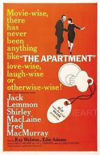 L'appartamento VINTAGE MOVIE POSTER FILM a4 a3 arte stampa cinema