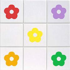 Blumen - Vinyl Kachel Aufkleber