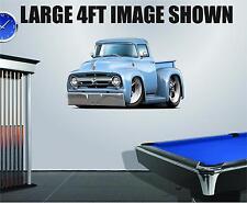 1956 Ford F100 Flat Head Cartoon Car Truck Bed Art Wall Stickers Graphics Decal