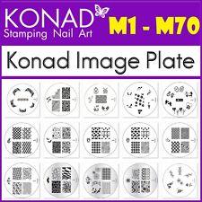 m1 - m70 konad Stamping image plates round transfer manicure metal designs
