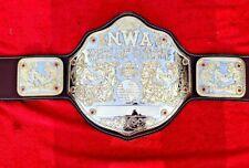 New NWA Big Gold Championship belt, Adult Size & Dual Gold Plates