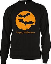 Happy Halloween- Flying Bats- Haunted Trick or Treat  Long Sleeve Thermal