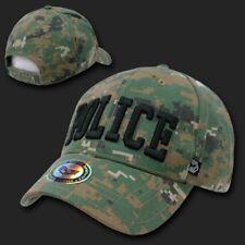 POLICE WOODLAND DIGITAL 3-D EMBROIDERED HAT CAP