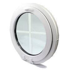 Fenêtre à soufflet ronde+Croisillon oeil de boeuf de haute qualité PVC NEUF VEKA