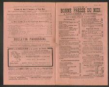 """VILLEDIEU (84) IMPRIMERIE / Société """"BONNE PRESSE DU MIDI"""""""