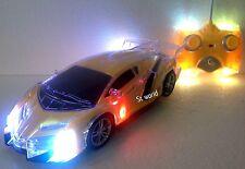 FERRARI R/C RADIO REMOTE CONTROL LED CARS 1:18 - FULL BODY FLASHING LIGHTS