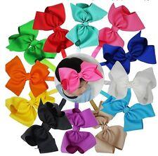 "8"" Bow Hair bows Shimmery Elastics Headbands Babies/Girls"