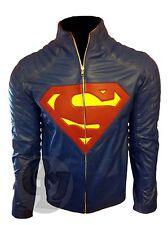 Superman Man of Steel & Smallville Véritable Cuir Veste Tendance Bouclier