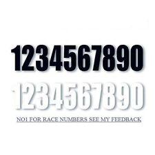 "Pegatinas, números, 6"" números, raza Números, Letras Adhesivas, números de Motocross"