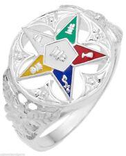Ladies Silver Gold Masonic Freemason Eastern Star Ring