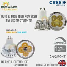 GU10/MR16 DIMMABLE 6W 8W 9W WARM/ COOL WHITE White CREE LED Light Bulb Spotlight