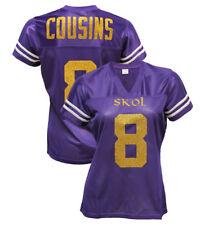 Custom Womens Blinged Football Purple Jersey,Kirk Cousins,,Skol