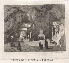 1840  Palermo  S,Rosalia bulino su rame