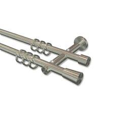 Gardinenstange Vorhangstange »Chapeau« Smobili 1 läufig edelstahloptik NEU 285