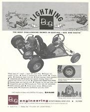 Vintage 1961 Lightning Bug & Saetta V12 Go-Kart & Engine Catalog Pages