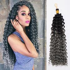 "Freestyle Deep Twist Wavy Bulk Crochet Braid 15"" premium Hair Extensions Ombre"