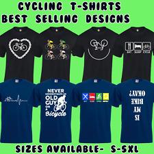 CYCLING MENS T-SHIRTS CYCLIST BIKE BICYCLE DESIGN GIFT PRESENT IDEA S - 5XL
