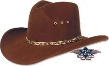 Hut Westernhut Cowboyhut »KANSAS« Braun Country Mexikanischer Fauxfelt S&S NEU