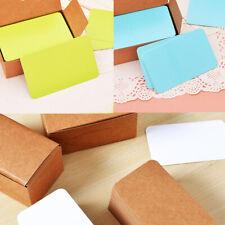 100pcs Blank Card DIY Greeting Cards Party Gift Thick Kraft Postcards GYTH