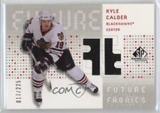 2002 SP Game Used Future Fabrics #CA Kyle Calder Chicago Blackhawks Hockey Card