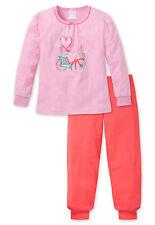 Schiesser Pijama de niña largo 100% algodón 98 104 116 128 Pijama