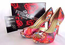 "Fergalicious  Radical D'Orsay Peep Toe Pump, Floral  5"" heel / 1"" platform NIB"