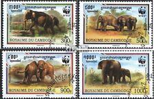 Kambodscha 1680-1683 (kompl.Ausg.) gestempelt 1997 Naturschutz