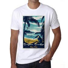 Brighton , Brooklyn Pura Vida Beach Tshirt, Hommes Tshirt Blanc, Cadeau Tshirt
