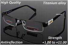 Titanium Alloy Antireflection Non spherical Reading Glasses +1 to +11 UK Seller