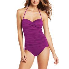 Convertible Halter Strapless Tankini Top Bikini Bottom Swimwear Swimsuit Orchid