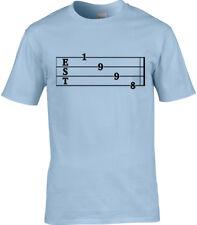 Guitar Tab Birthday Mens T-Shirt Established 1998 20th Birthday Rock Metal Music
