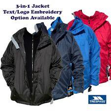 Custom/Personalised Trespass 3 in 1 WATERPROOF JACKET /Work Wear