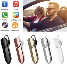 Bluetooth Headset Wireless Earpiece Stereo Headphone for LG G7 G5 iPhone Nokia