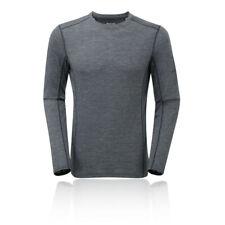 Montane Uomo Sportive Running PRIMINO 140 manica lunga T Shirt Tee Top Grigio